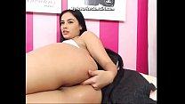 Busty Latina Teen Babe Fingering Her Ass Hole