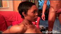 Ebony chick with nice tits gets fucked