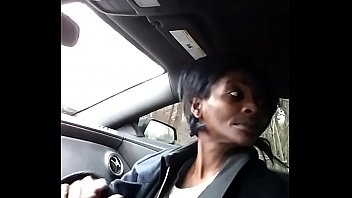 Deepthroat gumjob in car with cum swallowed throatpie