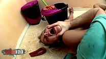 Nicky Wayne b. anal fucking with food and milk enema