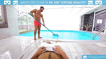 VRBGay.com Hot Stud Logan Moore fucking at the pool side