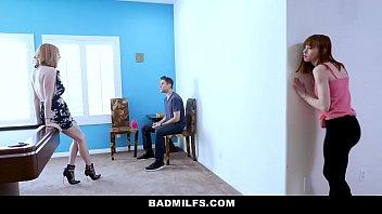 BadMILFS - Slutty Mom (Lauren Phillips) Fucks Stepdaughter (Alexa Nova) And Her Boyfriend