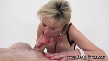 Lady Sonia meets twitter follower and tit fucks him until he cums