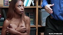 Sarah Banks tight ebony pussy fuck doggystyle by the LP Officer