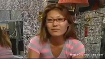 Cute Asian gf fucks in homemade video