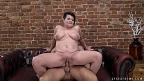 Pierced granny pussy filled with y. dick