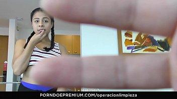 OPERACION LIMPIEZA - Colombian maid seduced and fucked hard by employer 8 min