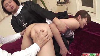 Hitomi Kanou removes the nun costume to fuck hard  - More at Japanesemamas com