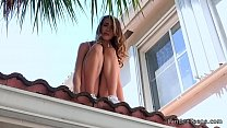 Stranded teen bangs in exbfs house
