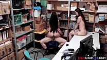 Latina stepsisters get caught stealing and later fucked