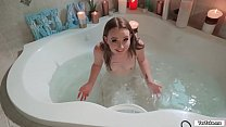 Petite teen banged by bf after shower