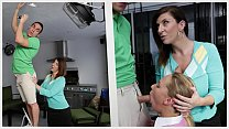 BANGBROS - Stepmom MILF Sara Jay Threesome With Step Daughter Carter Cruise