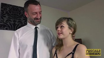 Submissive English slut dommed and fed with masters cum 9 min