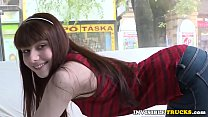 Young babe picked up for public truck sex