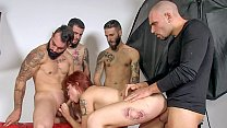 LAS FOLLADORAS - 4 on 1 sucking and fucking with hot Spanish pornstar Lilyan Red and newbies