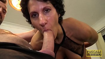 Cock craving English wench blasted with cock and cum