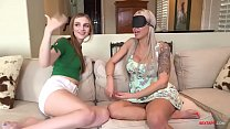Busty Mom fucks both step son & daughter on her b'day