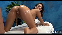Beauty feels how huge cock enters her tight chocolate hole hole