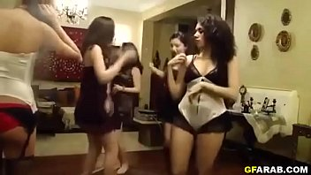 Arab Sister Dancing With Her Friends In Lingerie