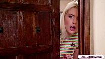 19yo Jane Wilde finds new roommate Chloe masturbating on bed