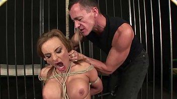 Enslaved woman Bonny Bon, extremely squirts and enjoys domination. BDSM movie. Hardcore bondage sex.