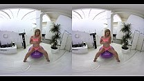 vrpornjack.com - Hot teen on fitness ball in vr