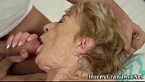 Cock sucking grandma fuck
