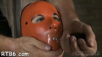 Gagged and fastened up babe is whipped ferociously