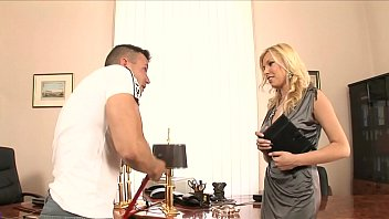 Horny babe Donna Bell takes advantage of her hot employee