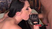 Anal renegade Kittina Clairette takes a Triple Dick DP Pounding