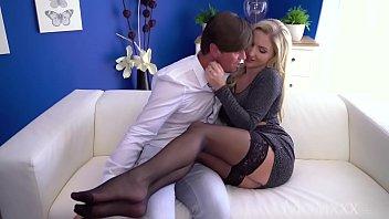 MOM Hot Scottish blonde Georgie Lyall sloppy blowjob and doggy 8 min