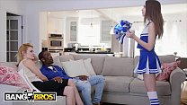 BANGBROS - Cheerleader Riley Reid Rides Her Mom's Boyfriend's Big Black Dick