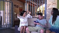 Anissa Kate, Jasmine Webb get dilated holes by the landlord's son