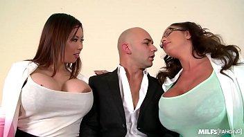 Milfs Tigerr Benson & Emma Butt Hardcore Fucked By Big Cock On Office Table