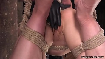Small tits hogtied blonde squirting