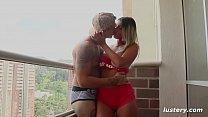 Authentic Amateur Couple Fucking on Balcony