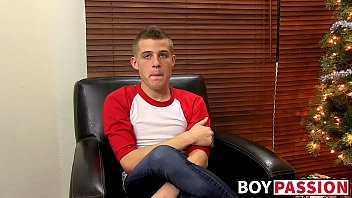 Cute little homosexual youngster masturbates using dildo