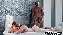 Super hot black bbc hunk fucks white gay guy