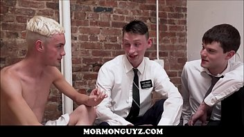 Blonde Mormon Twink Has Sex With His New Roommate While Other Roommate Directs