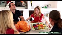 Cute And Tiny Teen Step Sister Angel Smalls And Her Step Brother Fuck During Thanksgiving Dinner
