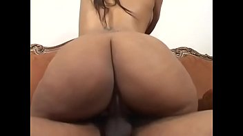 Black bitch in high boots gets her butt fucked by tattooed black stud