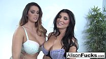 Alison Tyler & Romi Rain fuck each other for the first time