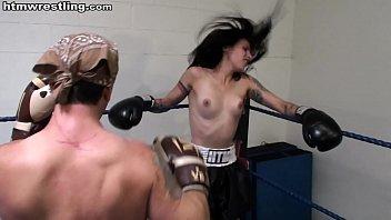 Pain Slut Boxing Beatdown