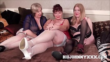 3 Hot Busty Dirty British Grannys Suck & Fuck Young Toyboy! Hardcore XXX Bareback Action! Big Facial!