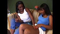 Black girls demonstrates their love of lesbian strap-on sex