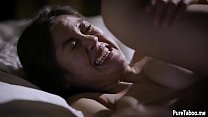 Asian stepdaughter teen got rough banged after a dinner