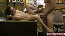 Cutie babe with glasses banged so good by pawn keeper