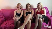 Cindy, Carola et Louise les jolies salopes essayent d'épuiser Rick