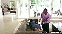 Bigass babe rammed hard by black guy
