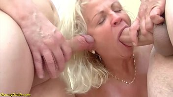 crazy 73 years old grannies first double penetration 12 min